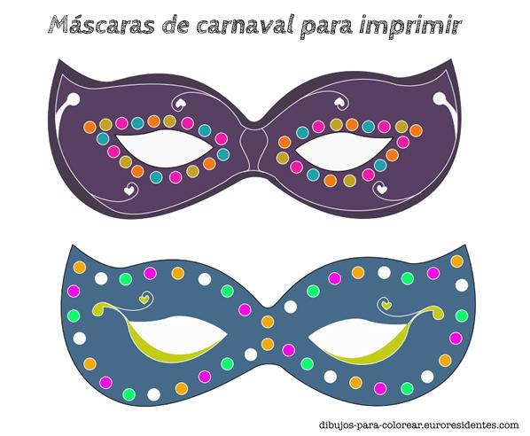 Originales y bonitas máscaras de carnaval para imprimir - Manualidades