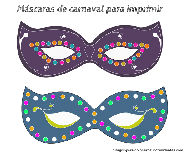 mascaras carnaval imprimir