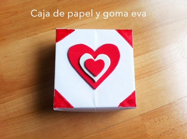 caja de papel para San Valentín