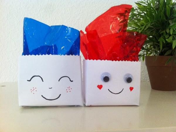 bolsitas para regalo hechas con sobres