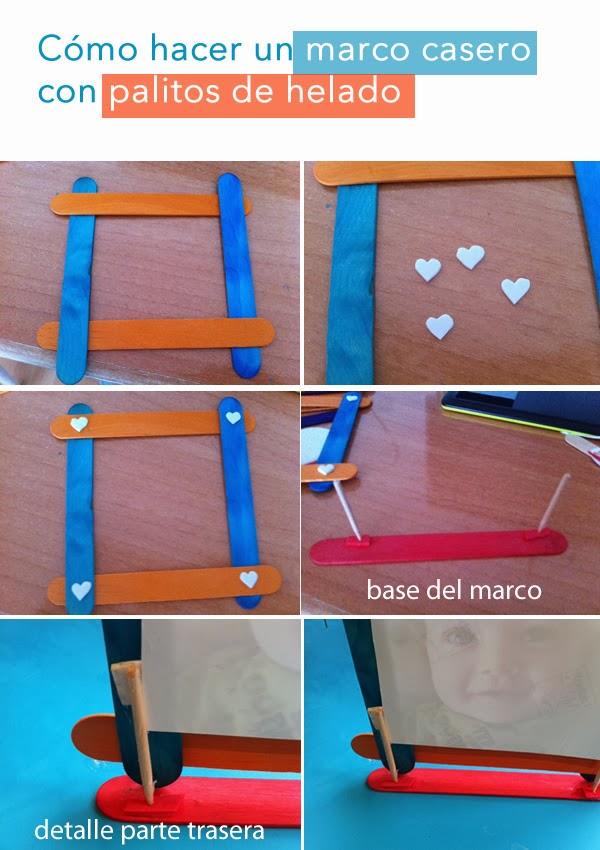 hacer un marco casero con palitos de helado paso a paso