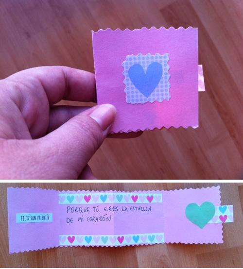 tarjeta amor casera
