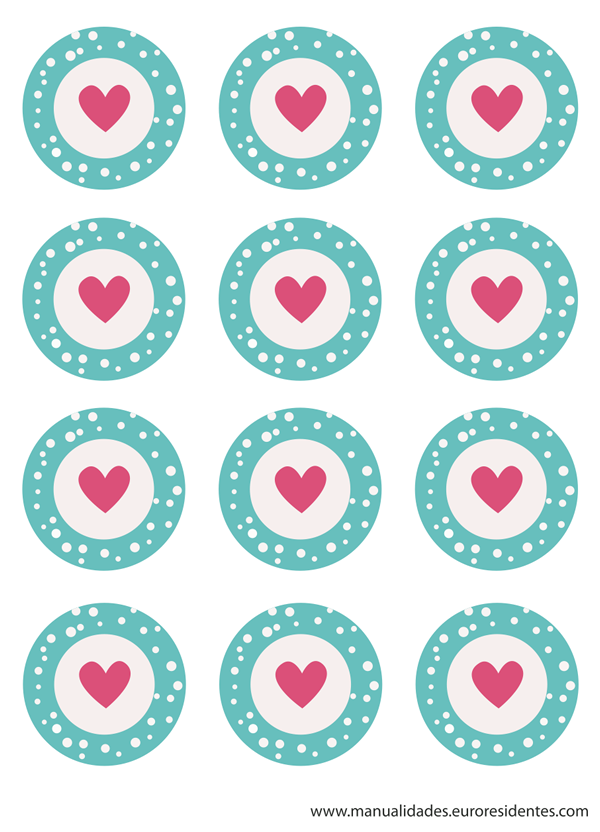 San valent n wrappers y toppers de cupcakes para imprimir manualidades - Papel decorativo manualidades ...
