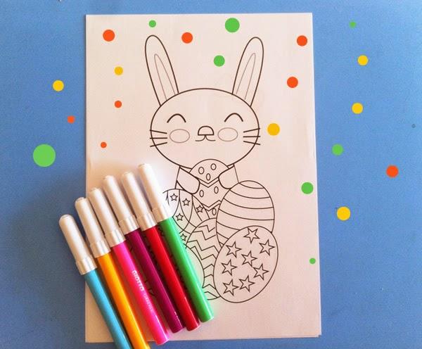 conejito de Pascua para colorear