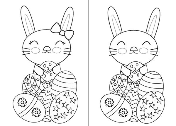 Dibujo del conejito de Pascua para imprimir - Manualidades