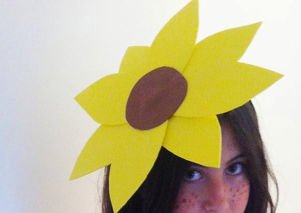 cómo hacer un disfraz de girasol. Detalle de la flor
