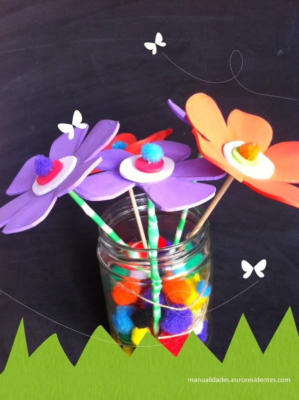 Flores De Foami Faciles Manualidades