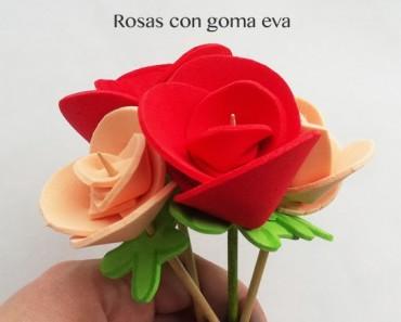 Cómo hacer rosas con goma eva