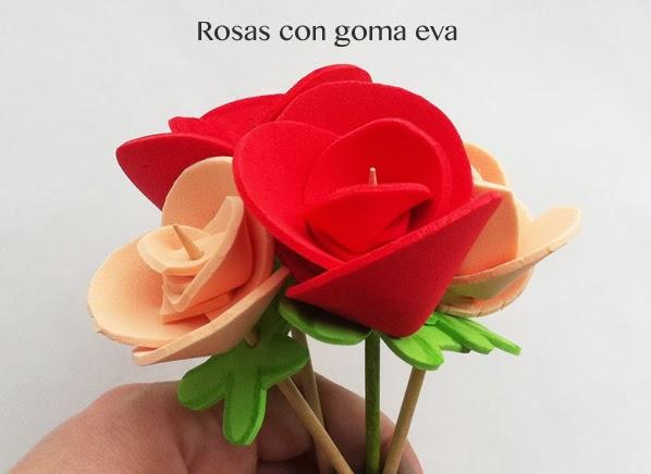 Cmo hacer rosas de goma eva Manualidades