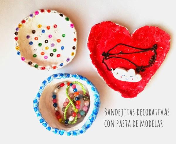 Cómo hacer bandejitas decorativas con pasta de modelar
