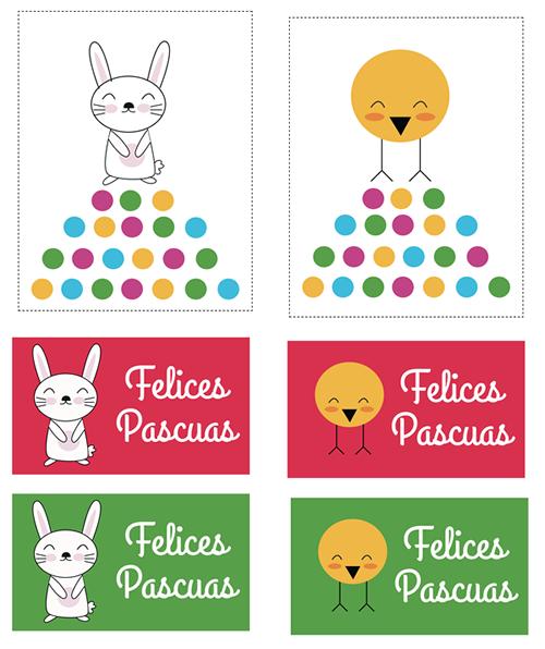 Tarjetas y dibujos de Pascua para imprimir