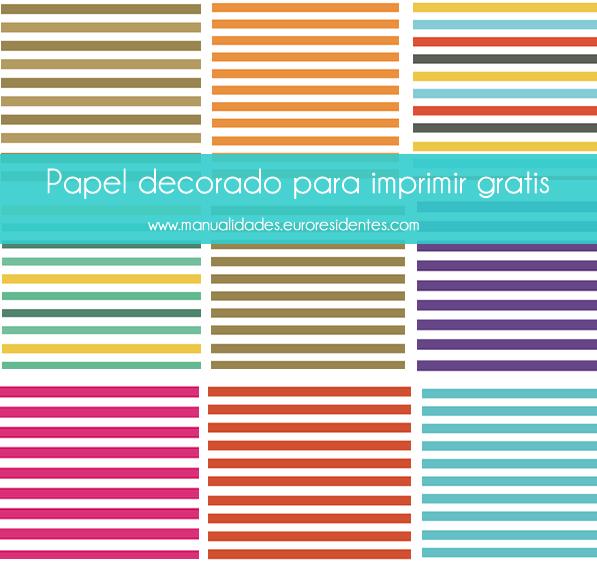 papeles decorados estampados rayas imprimir