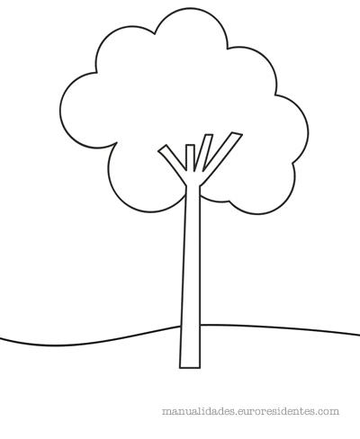 Árboles para colorear - Manualidades