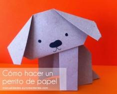 cmo hacer un perro de papel