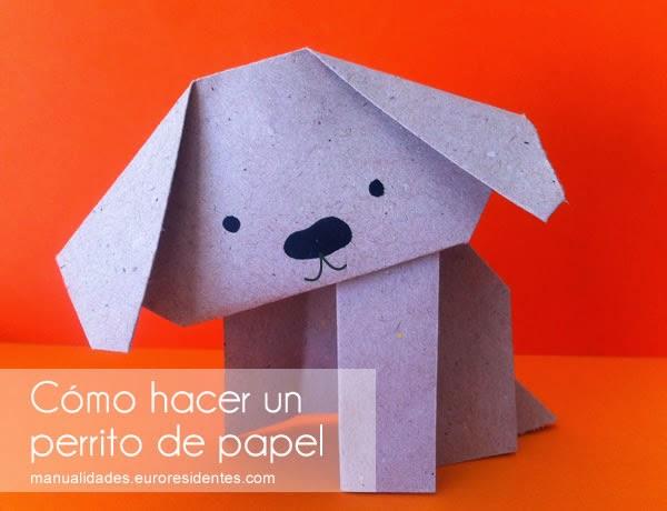 como hacer perro de papel