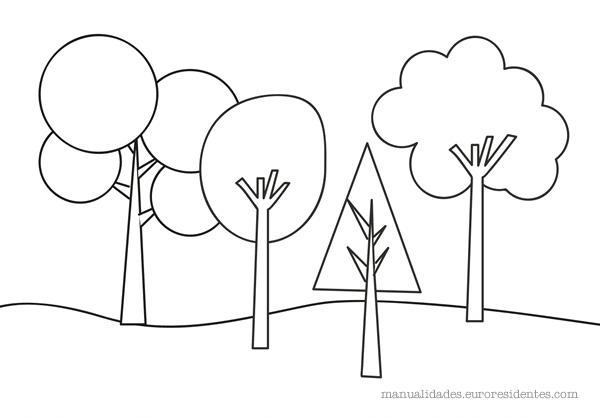 Dibujos De Arboles Coloreados: Árboles Para Colorear