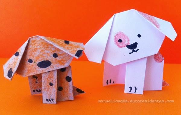 como hacer perrito de origami