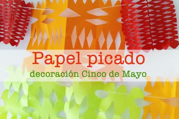 papel picado para decorar el cinco de mayo