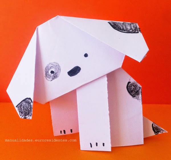 perro de papel paso a paso