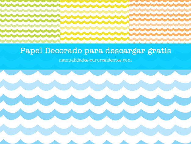 Papel decorado con dibujos de olas manualidades for Imagenes de papel decorado