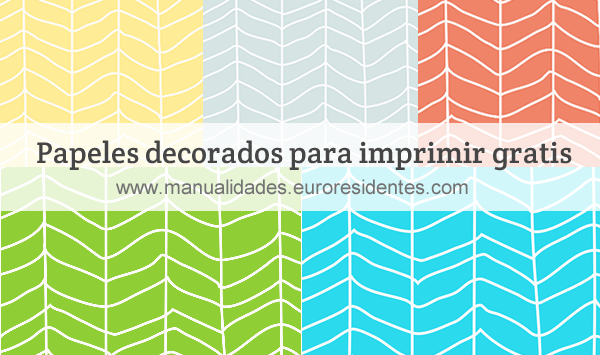 Papel decorado con estampado zizgag manualidades - Papeles para decorar ...