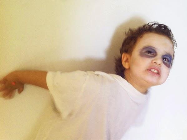 disfraz de fantasma casero niño