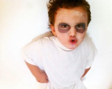 disfraz de fantasma casero para niños