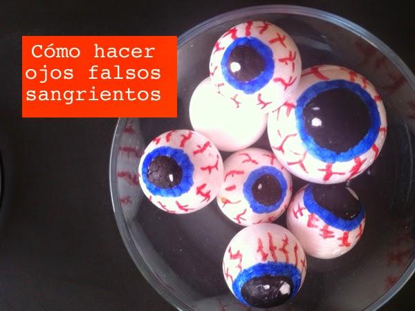 DIY: como hacer ojos falsos halloween