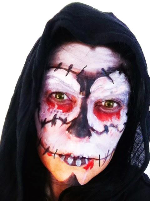 maquillaje muerte halloween
