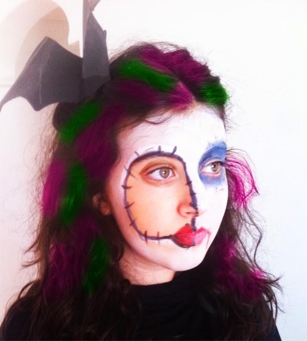 3 maquillajes para halloween f ciles manualidades for Caras pintadas para halloween
