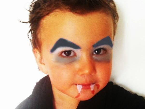 maquillaje de vampiro fcil para nio