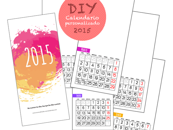 Calendario personalizado 2015 para imprimir - Manualidades