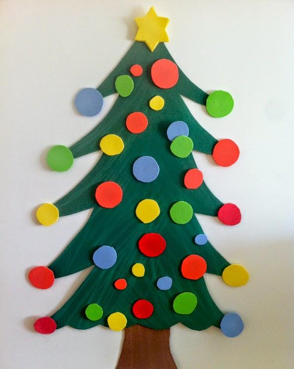 C mo hacer un rbol de navidad con goma eva manualidades - Imagenes de arboles navidad decorados ...