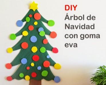árbol de navidad de goma eva