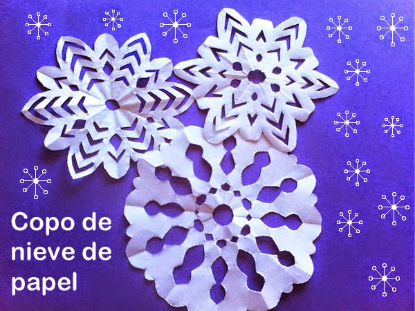 Como Hacer Copos De Nieve De Papel Facil Manualidades