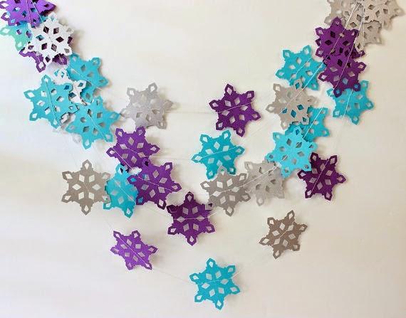 ideas para decorar con copos de nieve de papel