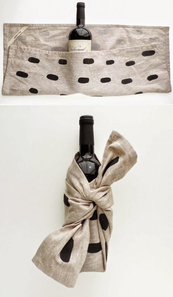 ideas envolver botella vino para regalo
