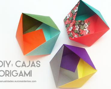 Origami: cajita decorativa
