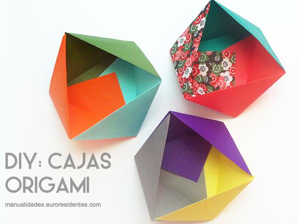 caja papel origami decorativa
