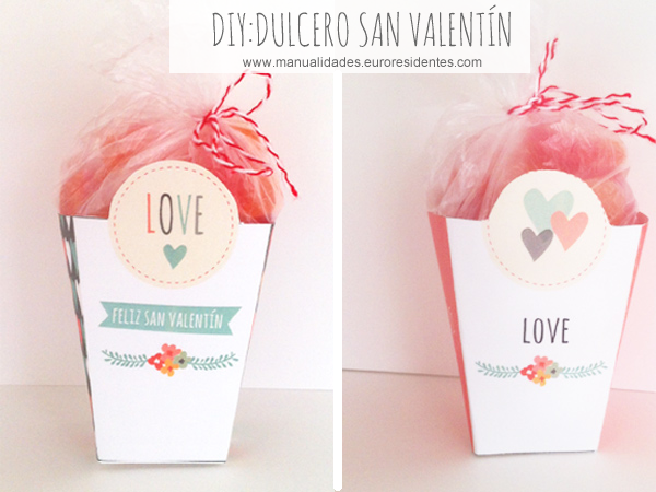 cajitas románticas para imprimir . San Valentín