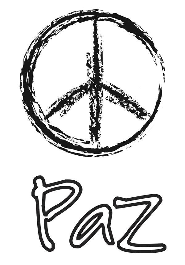 Dibujos Día De La Paz Para Colorear Manualidades