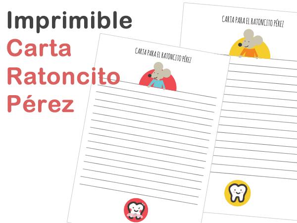 Carta imprimibles Ratoncito Pérez