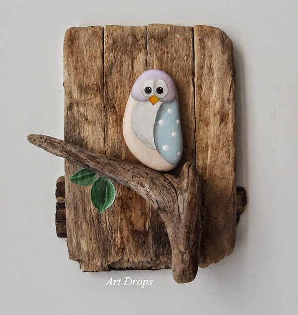 Pintar y decorar piedras a mano consejos b sicos e ideas for Cuadros hechos con piedras