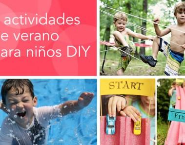 8 actividades de verano para niños DIY