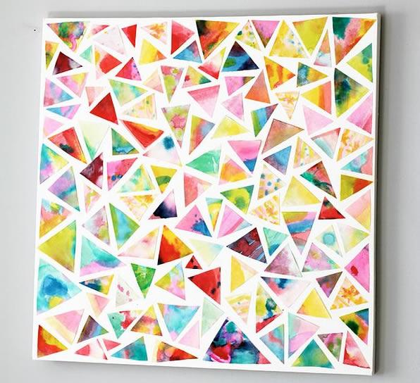C mo hacer mosaicos materiales e ideas originales para for Cuadros con formas geometricas
