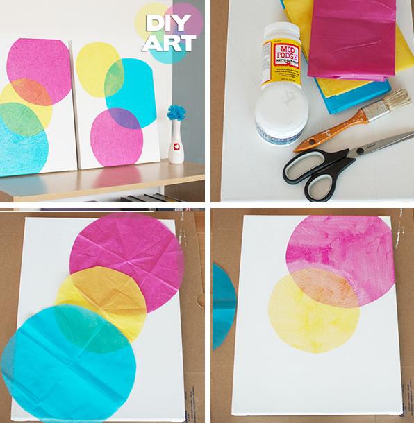 7 formas creativas de hacer tus propios cuadros manualidades - Manualidades faciles cuadros ...