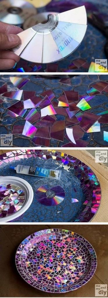 Mosaico cd's cuenco