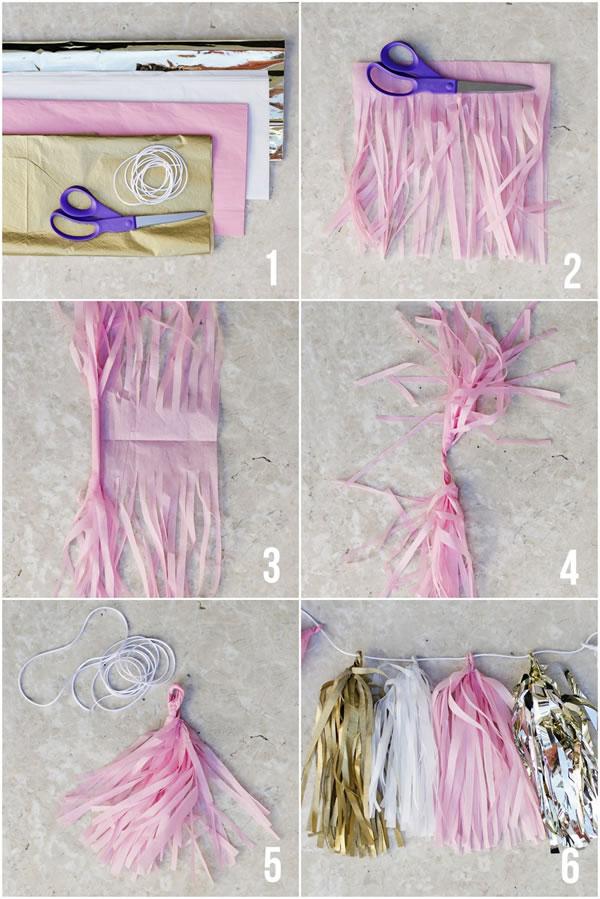 10 ideas f ciles y bonitas para hacer guirnaldas - Ideas para porras ...