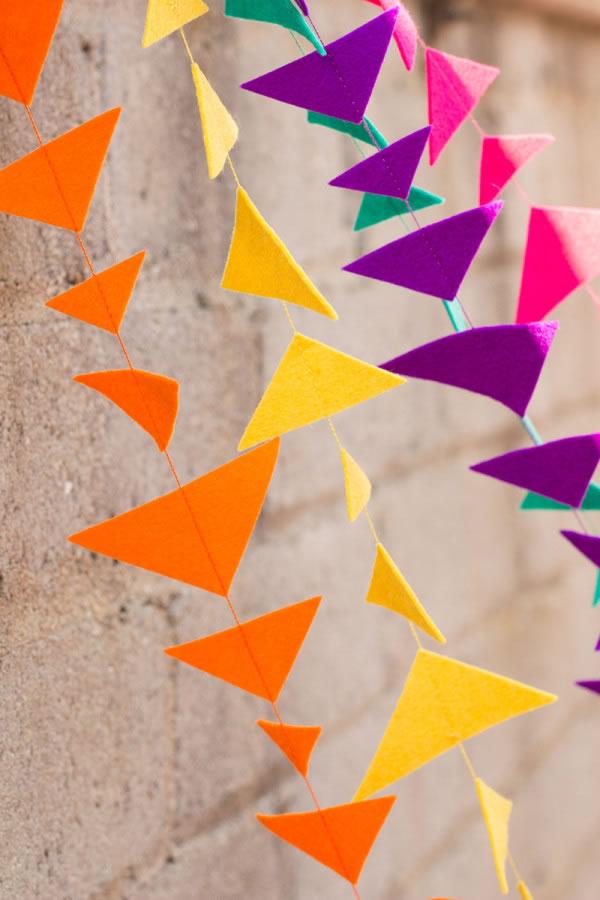10 ideas f ciles y bonitas para hacer guirnaldas - Como hacer cadenetas de papel para fiestas ...