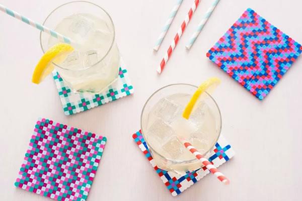 Posavasos con hamma beads